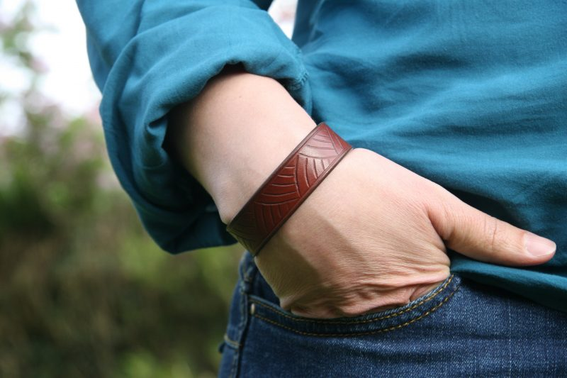Bracelet cuir femme Gavrinis