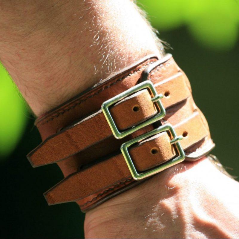 Blacksmith strength bracelet worn