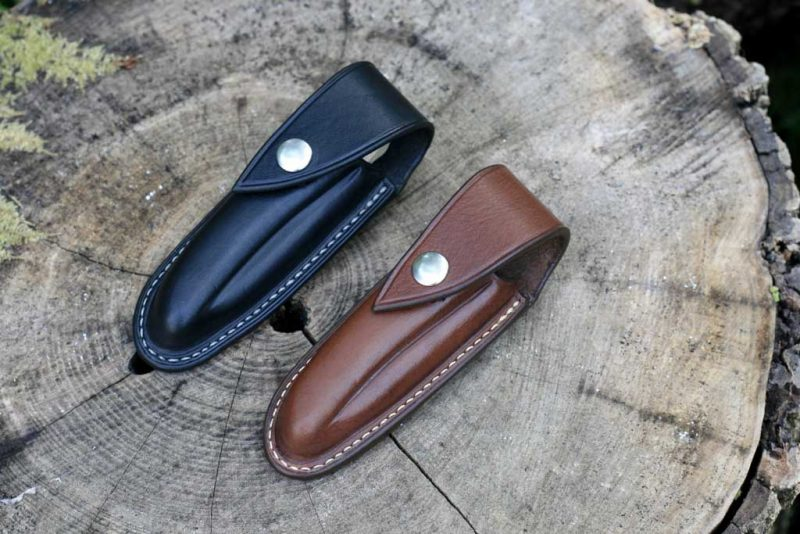 Black and brown cases knife Ardea Skua cutlery