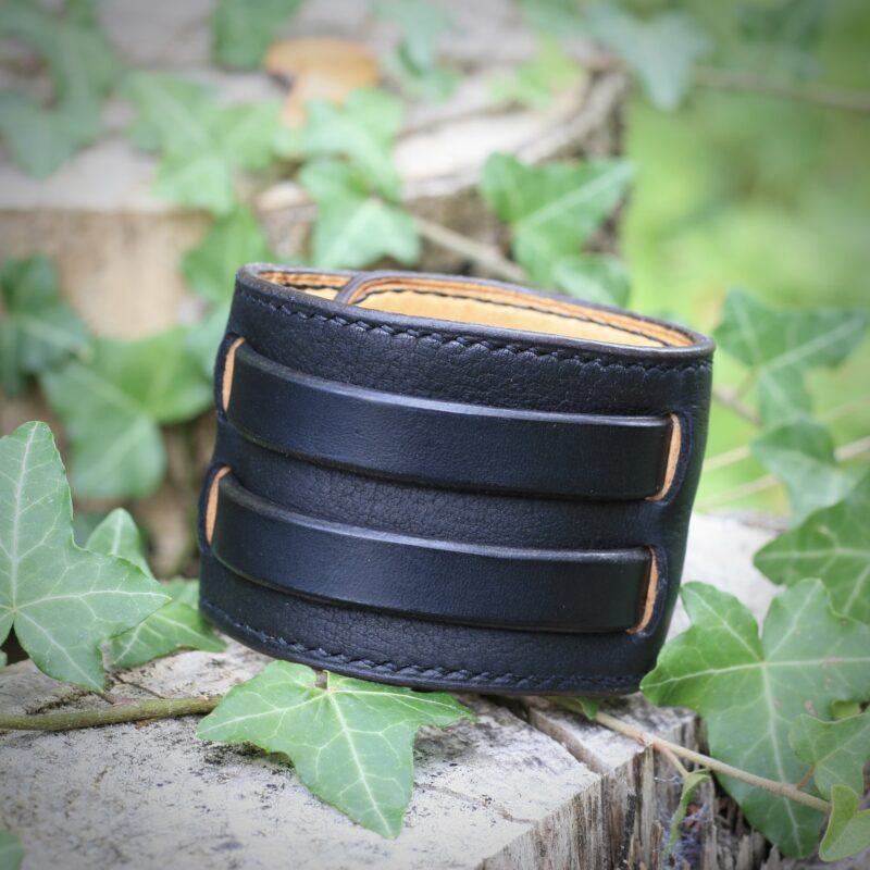 Bracelet de force forgeron noir