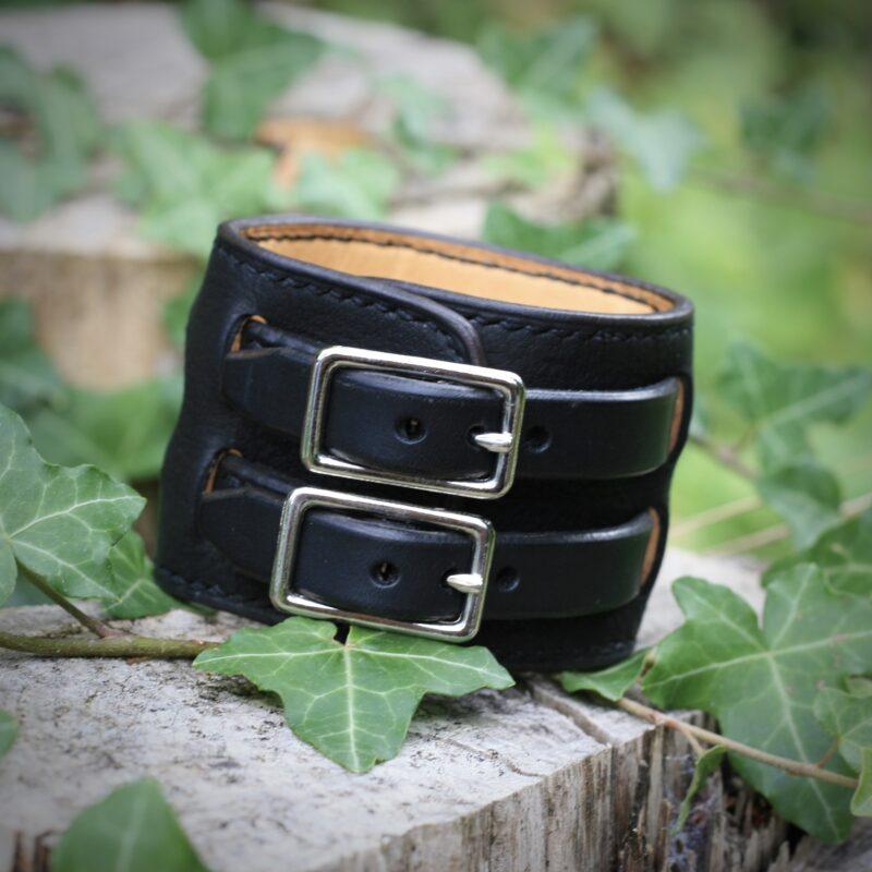 Bracelet de force forgeron noir - Boucles