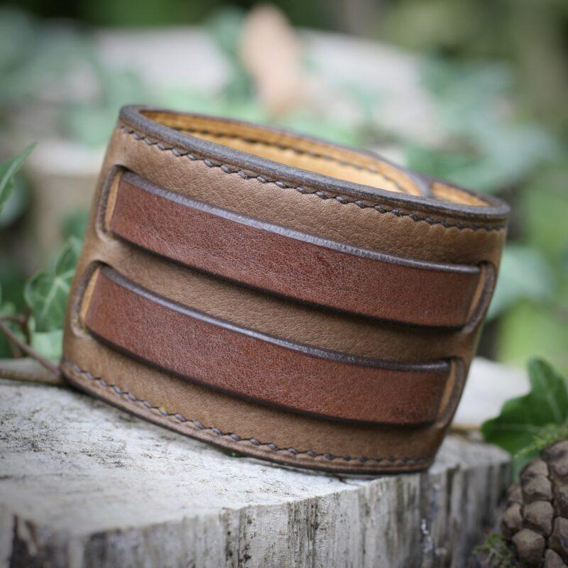 Bracelet de force forgeron brun