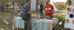 Atelier cuir TiipiiK au festival arts et jeux au jardin 2019